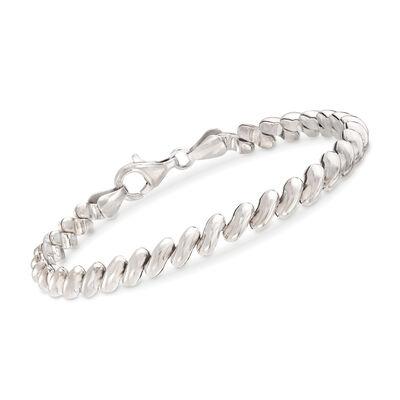 Italian Sterling Silver San Marco Link Bracelet