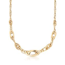 "Italian 18kt Yellow Gold Multi-Link Necklace. 18"", , default"