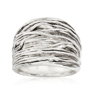 Sterling Silver Multi-Line Ring