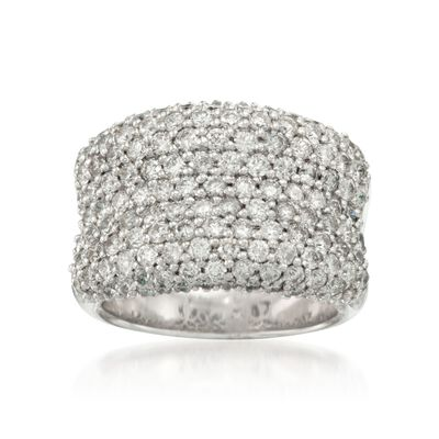 3.00 ct. t.w. Pave Diamond Ring in 14kt White Gold, , default