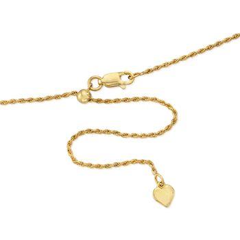 Italian 1.5mm 18kt Gold Over Sterling Adjustable Slider Rope Chain Necklace , , default