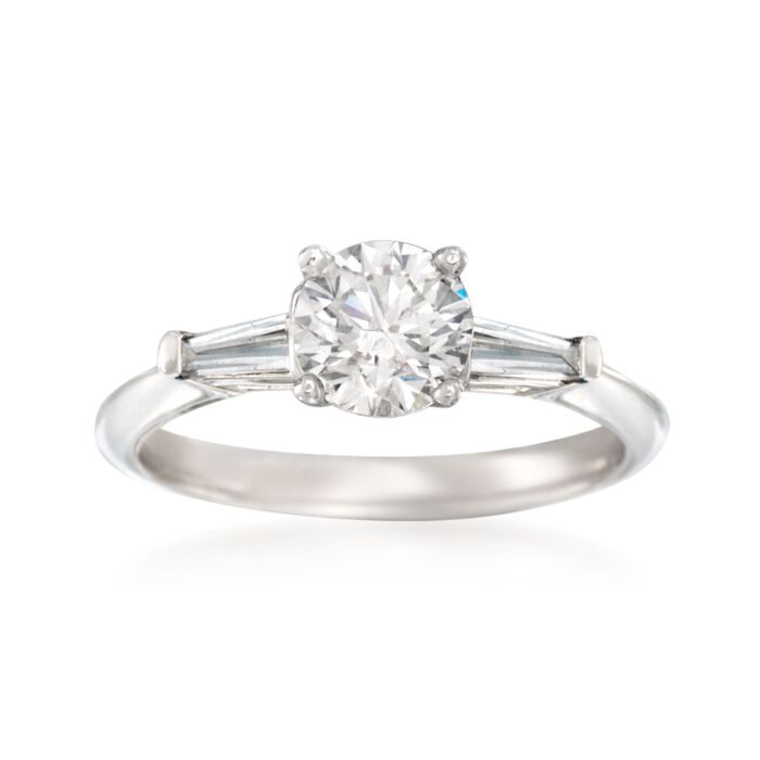 1.37 ct. t.w. Certified Diamond Engagement Ring in 14kt Yellow Gold