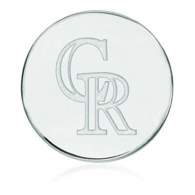 Sterling Silver MLB Colorado Rockies Lapel Pin, , default