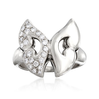 C. 1990 Vintage Bulgari .40 ct. t.w. Diamond Butterfly Ring in Platinum, , default