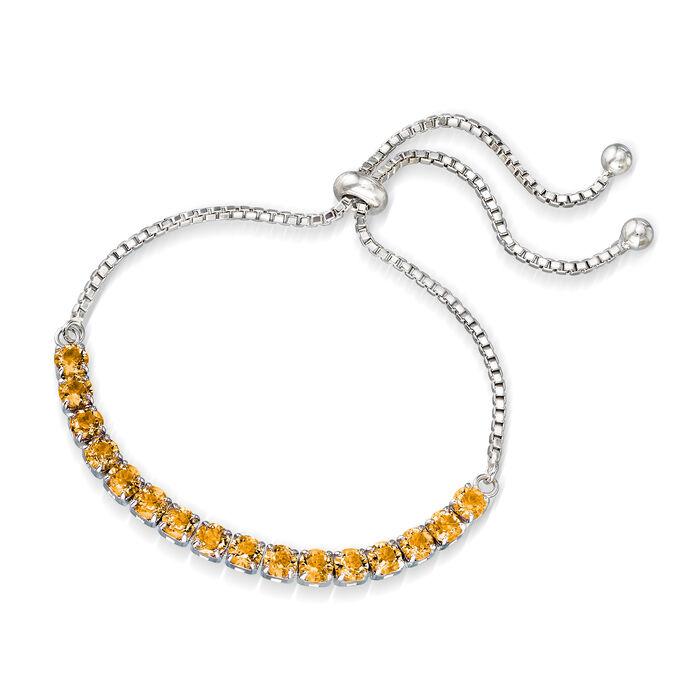 Swarovski Crystal Yellow Bolo Bracelet in Sterling Silver