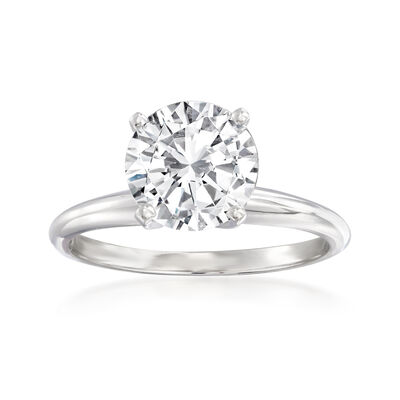2.00 Carat Diamond Solitaire Ring in Platinum