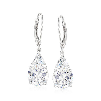 6.72 ct. t.w. CZ Drop Earrings in Sterling Silver