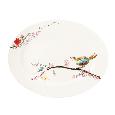 "Lenox ""Chirp"" Medium Oval Serving Platter, , default"