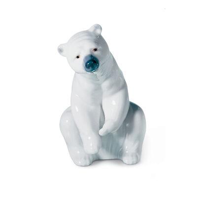 "Lladro ""Polar Bear Resting"" Porcelain Figurine, , default"