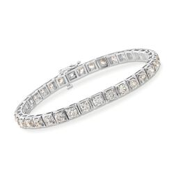 "10.85 ct. t.w. Diamond Tennis Bracelet in 14kt White Gold. 7"", , default"