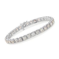 10.85 ct. t.w. Diamond Tennis Bracelet in 14kt White Gold, , default