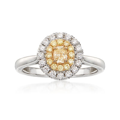 .71 ct. t.w. Yellow and White Diamond Ring in 18kt Two-Tone Gold, , default