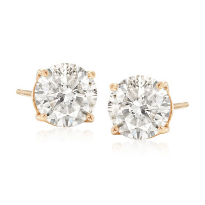 2.00 ct. t.w. Diamond Stud Earrings in 14kt Yellow Gold, , default