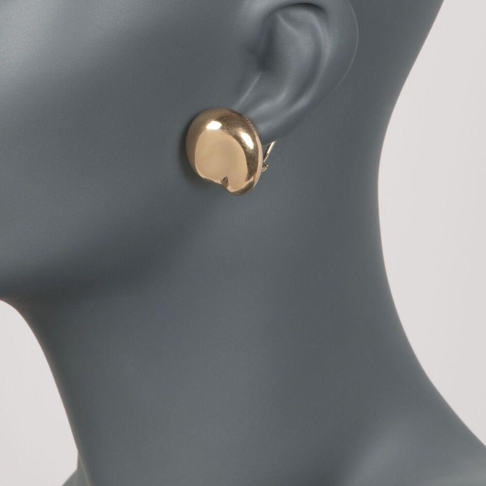 "4aeae25ee C. 1980 Vintage Tiffany Jewelry ""Elsa Peretti"" 18kt Yellow Gold  Large Bean ..."