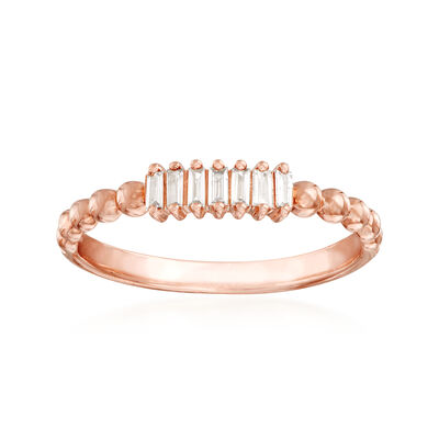 .10 ct. t.w. Diamond Multi-Baguette Ring in 14kt Rose Gold, , default