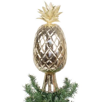 Gold Glass Pineapple Tree Topper, , default