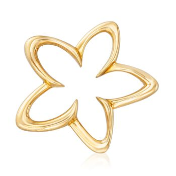 C. 1990 Vintage Tiffany Jewelry 18kt Yellow Gold Open Star Pin, , default