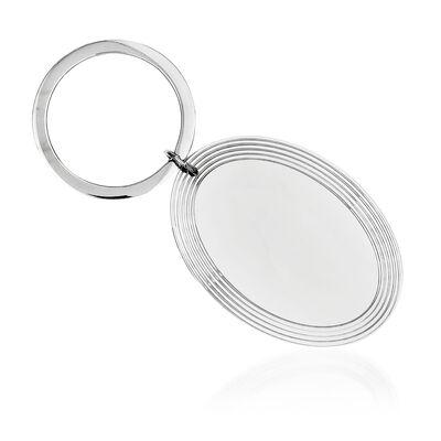 Sterling Silver  Engravable Key Chain, , default