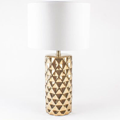 Gold Studded Glass Lamp, , default
