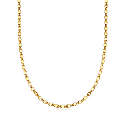 C. 1990 Vintage Cartier 18kt Yellow Gold Link Necklace, , default