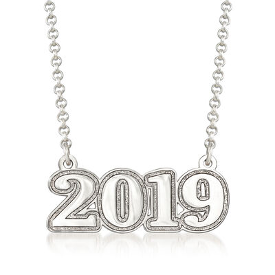 Sterling Silver 2019 Graduation Necklace, , default