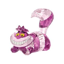 "Swarovski Crystal ""Disney's Cheshire Cat"" Pink and Purple Crystal Figurine, , default"