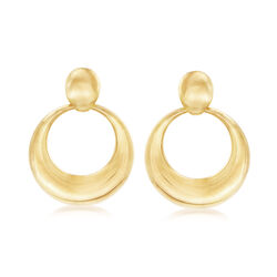 Italian Andiamo 14kt Yellow Gold Doorknocker Earrings, , default
