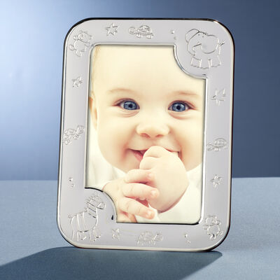 "Cunill Sterling Silver ""Baby Zoo"" Frame, , default"