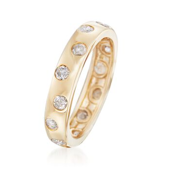 1.00 ct. t.w. Diamond Polka Dot Ring in 14kt Yellow Gold, , default