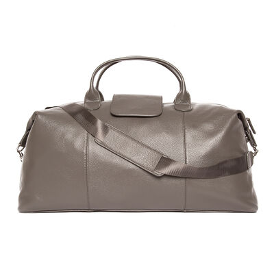 """Brouk & Co. """"Standford"""" Gray Genuine Leather Duffel Bag, , default"""