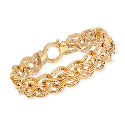 14kt Yellow Gold Multi-Link Bracelet, , default
