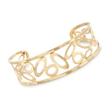 "Roberto Coin 18kt Yellow Gold ""Chic & Shine"" Cuff Bracelet. 7"", , default"