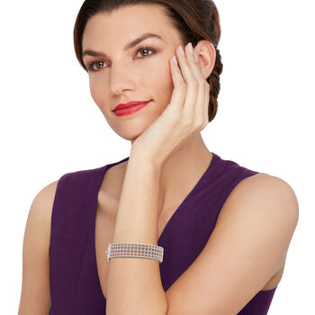 """Andrea Candela """"Cava"""" Sterling Silver Openwork Bangle Bracelet. 7"""", , default"""