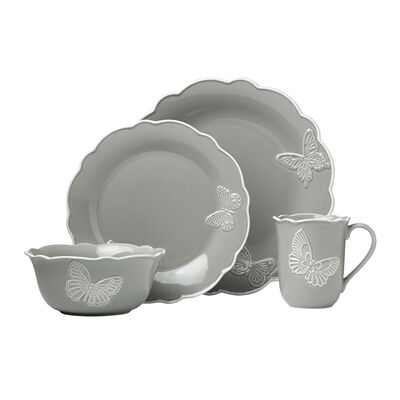 "Lenox ""Butterfly Meadow"" Slate Stoneware Dinnerware Set, , default"