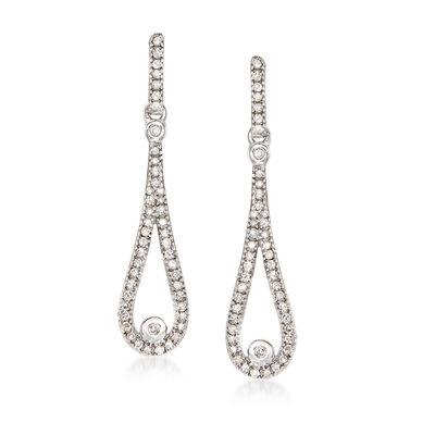 .26 ct. t.w. Diamond Drop Earrings in 14kt White Gold, , default