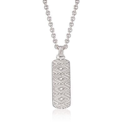 "Andrea Candela ""Tapiceria"" Sterling Silver Chevron Pendant Necklace, , default"
