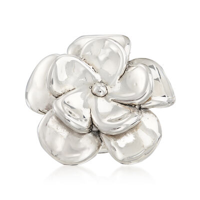 Sterling Silver Floral Ring, , default