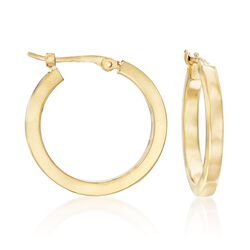 14kt Yellow Gold Hoop Earrings, , default