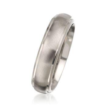 Men's 6mm Titanium Wedding Ring