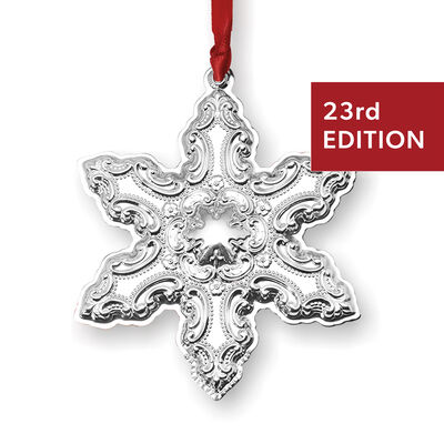 Wallace 2020 Annual Sterling Silver Snowflake Ornament - 23rd Edition
