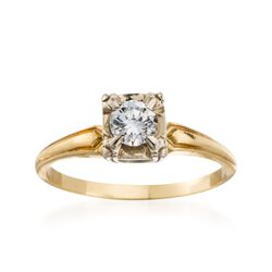 C. 1970 Vintage .28 Carat Diamond Ring in 14kt Yellow Gold. Size 6, , default