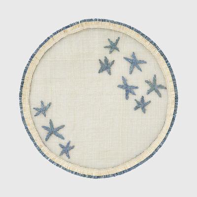 Joanna Buchanan Blue Star Straw Placemat