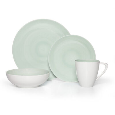 "Mikasa ""Savona"" Teal 16-pc. Service for 4 Dinnerware Set, , default"