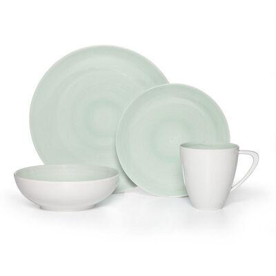 "Mikasa ""Savona"" Teal 16-pc. Service for 4 Dinnerware Set"