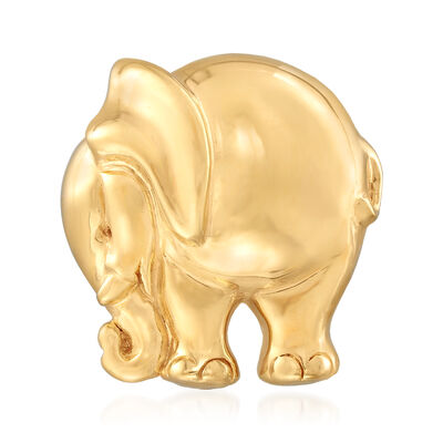 Italian 14kt Yellow Gold Elephant Pin, , default