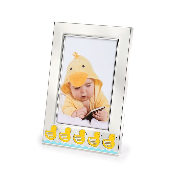 """Reed & Barton """"Something Duckie"""" 4x6 Silver Plate Frame, , default"""