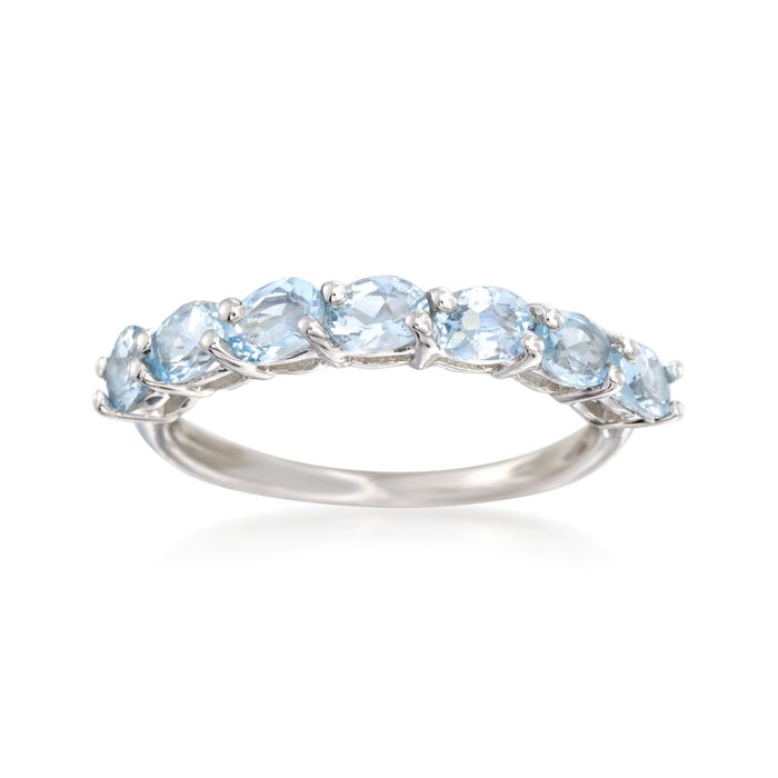 .90 ct. t.w. Aquamarine Ring in Sterling Silver