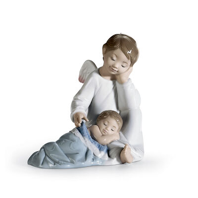 "Lladro ""My Guardian Angel"" Porcelain Figurine"