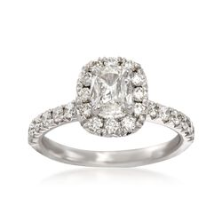 Henri Daussi 1.40 ct. t.w. Diamond Engagement Ring in 14kt White Gold, , default