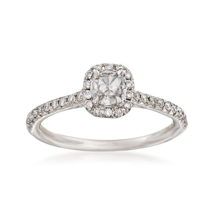 Henri Daussi .68 ct. t.w.  Diamond Engagement Ring in 18kt White Gold, , default